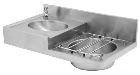 hospital Products Hospital Products DSBC Drip Sink & Basin Combination Franke Model DSBC Drip sink wash hand basin combo unit manufactured from 1,2mm thick grade 304 stainless steel with grid,