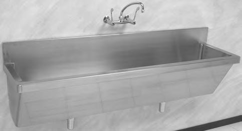Hospital Products HOSPITAL PRODUCTS SSW Hospital Surgeon Scrup-Up Units Wall Mounted Installation TAP & WASTE FITTING NOT INCLUDED 1200 1100 115 410 460 Franke model SSW wall mounted Surgeon s Scrub