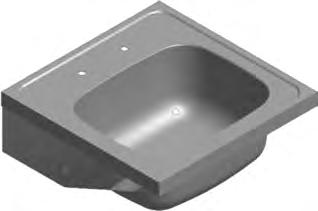 425 650 425 650 94 Hospital Products HOSPITAL PRODUCTS Medical Sink Single Bowl Franke Model MSS Single Bowl Sink 650x650x258mm manufactured from Grade 304 (18/10) Stainless Steel, 1,2mm gauge with