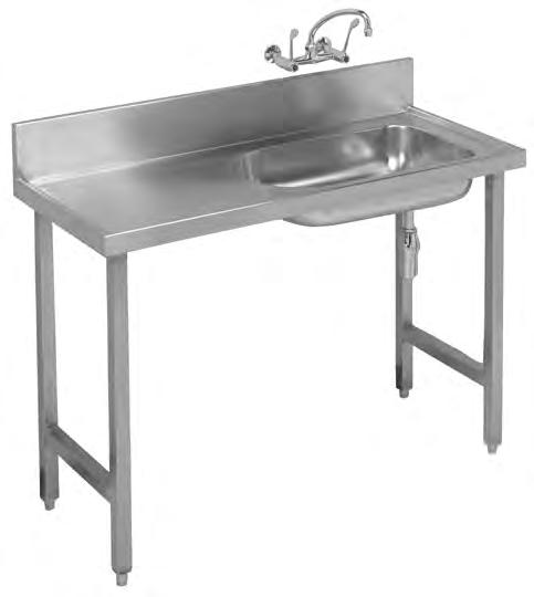 Hospital Products HOSPITAL PRODUCTS CB Baby Bath Wall & Floor Mounted Installation Franke model CB Baby Bath 1500x555mm manufactured from grade 304 (18/10) stainless steel 1,2mm thick with a 150mm