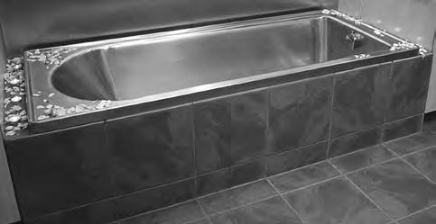 Hospital Products HOSPITAL PRODUCTS Stainless Steel Bath For Burn & Wound Treatments Franke model Stainless Steel Bath, size 1800x760x403mm deep, manufactured from Grade 304 (18/10) stainless steel 1.