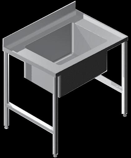 Industrial Products P1 Stainless Steel Pot Sinks Industrial Products Franke model P1 Pot Sink single centre/end bowl (please specify) manufactured from grade 304 stainless steel 1,2mm thick with a