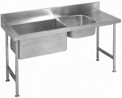 Industrial Products S1P1 Double Bowl Preparation Sinks industrial products Franke model S1P1 double bowl Preparation sink manufactured from grade 304 stainless steel 1,2mm thick with a 150mm high