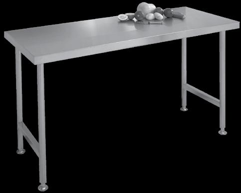 Industrial Products Stainless Steel Tables / Worktops industrial products Franke model T Table manufactured from grade 304 stainless steel 1,2mm thick with a 50x10mm turndown all round.