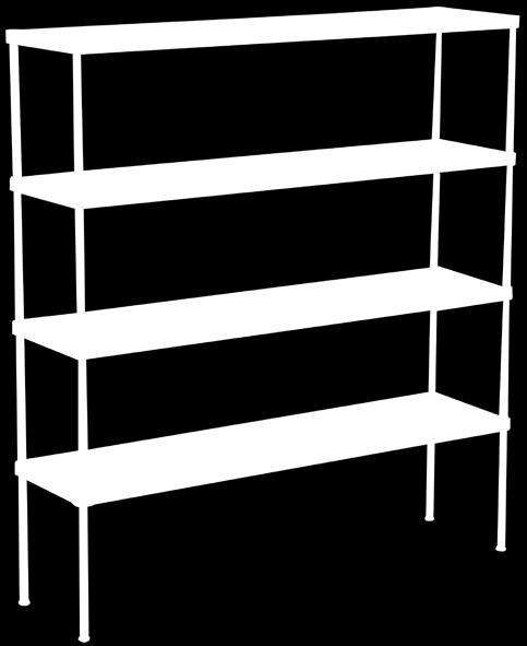 Industrial Products Fastrack Modular Shelving Franke Model Fastrack Modular Shelving Solid/Louvred (please specify) Shelves manufactured from 1.
