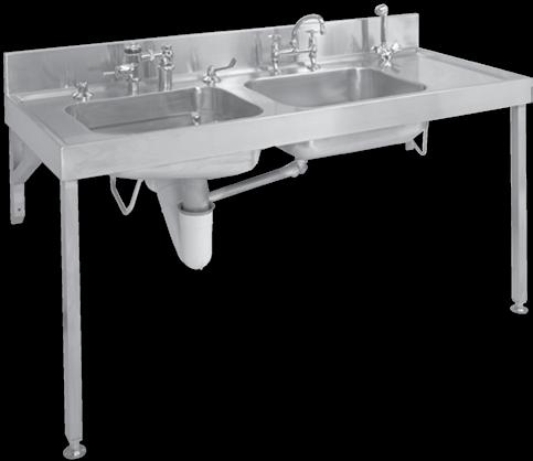 hospital Products Hospital Products LEFT HAND BOWL FITTINGS AND FIXING OPTIONAL 1830 LEFT HAND BOWL FRONT VIEW 685 20 380 SIDE VIEW 150 250 380 1050 EC Combination Bedpan & Wash-Up Sink WITH FLUSH