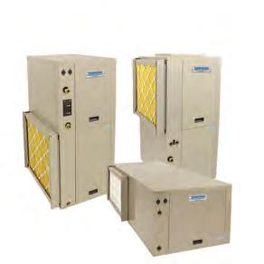 PACKAGED UNITS VERTICAL UPFLOW/VERTICAL DOWNFLOW/HORIZONTAL Heating and Cooling Products Efficiency Up to 4.6 COP and 30.
