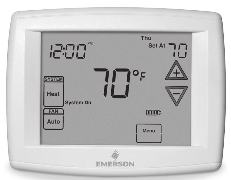 Blue Universal Touchscreen Thermostat with Automatic Heat/Cool Changeover Option Save these instructions for future use!