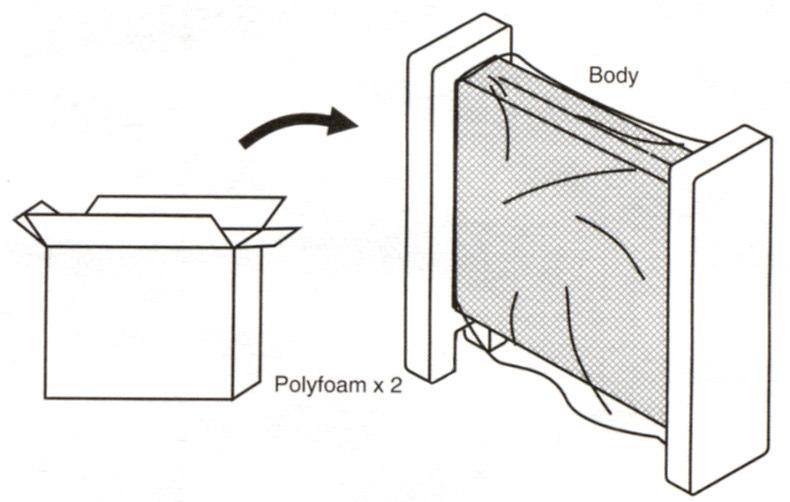 ASSEMBLY - REMOVING THE HEATER FROM THE PACKAGING Remove the heater from the box. NOTE: Product drawings may slightly differ from actual product.