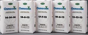O SMOCO T E FERTILIZERS OSMOCOTE CLASSICS One application will provide plants with a steady continuous metering of nitrogen, phosphorus and potassium nutrients from every prill.