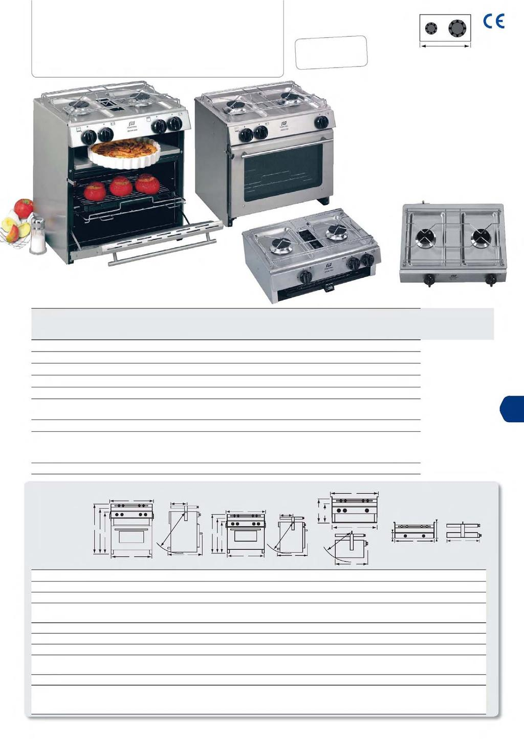 ookers & hobs : 4500 series Thermostat controlled oven.