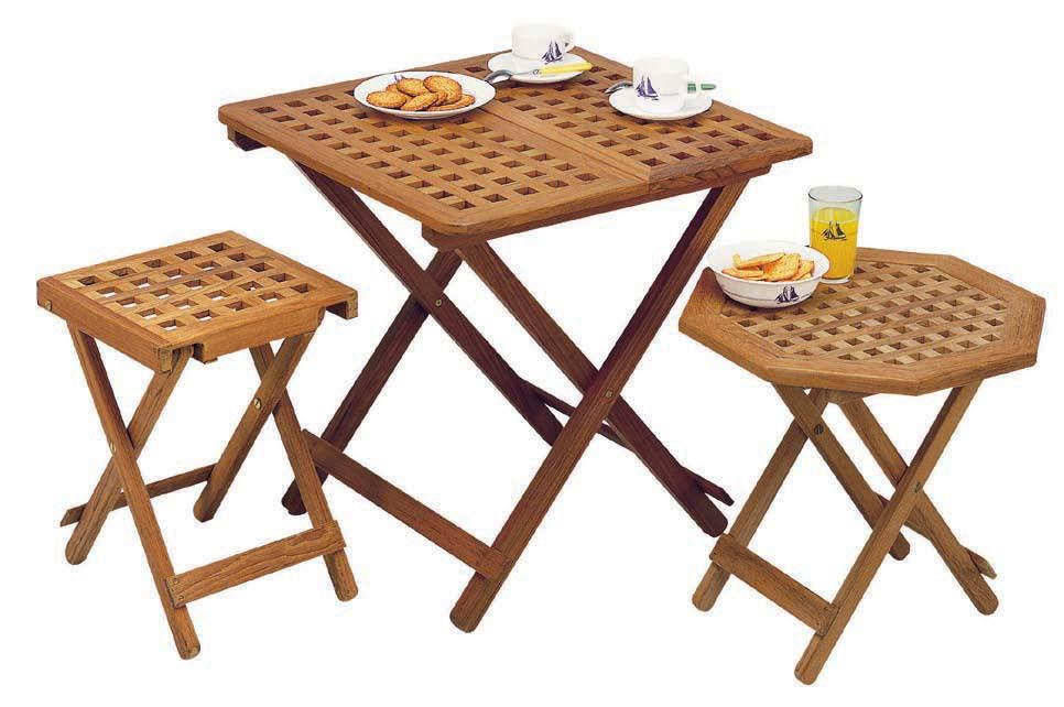 Teak table with extension 40279 im. without extension : H x L x W : 60 x 60 x 60 cm. im. including extension : H x L x W : 70 x 76 x 60 cm.