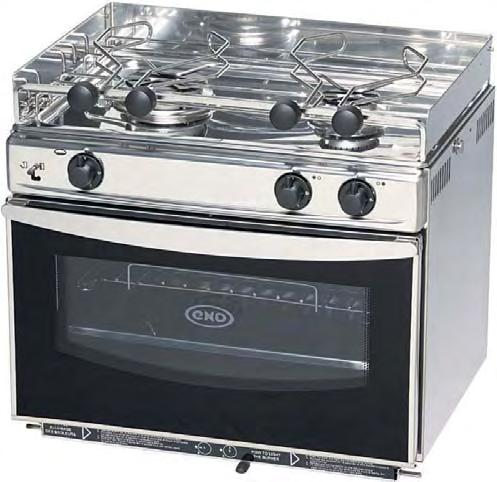 steel oven with grill UK certified 2-burner enamel oven without grill UK certified F3-burner st. steel oven with grill UK certified Ref. Overall dim. mm uilt-in dim.