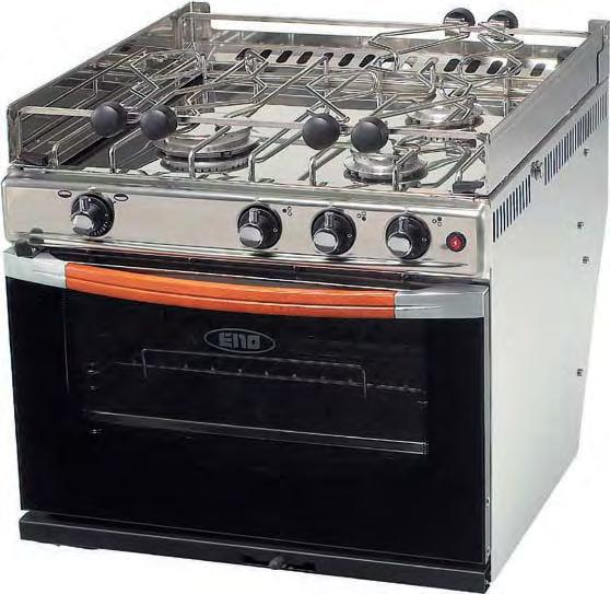 ookers escription 3-burner st. steel oven with grill E certified 3-burner st. steel oven with grill UK certified Ref.