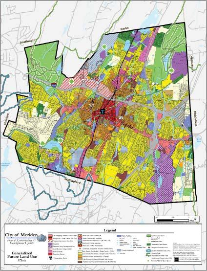 Plan of Conservation & Development (POCD) Meriden, Connecticut As part of the City s Comprehensive Master Plan update, an analysis of economic conditions, housing demographics, development patterns,
