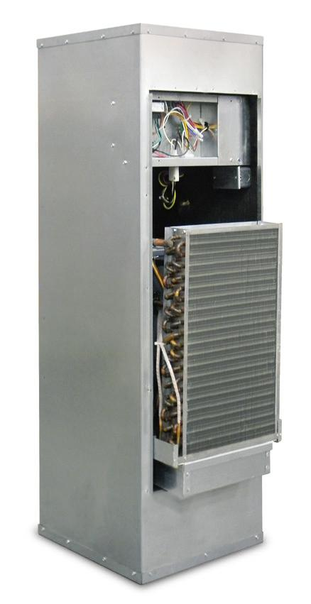 Whisperline Ducted Vertical with Slide-out Chassis Classic Water Source/Geothermal Heat Pump and Air Conditioner A vertical unit requiring access on only one side and serviceability that provides
