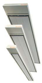 HIGH TEMPERATURE CEILING HEATERS S18-PLUS 1800W 230V Radiant Heating Panel 1500x250x60 IP X4 Ceiling / 270.