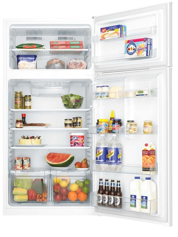 1 Separate temperature controls for fridge and freezer Model shown: KTM5200WB-R 4 m 2 1.