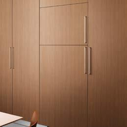 Everything you need to integrate your fridge including the hinges is provided in one complete package, avoiding unnecessary running around and hidden costs.