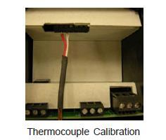 Thermocouple Calibration Installation requires configuration for the specific thermocouple used.