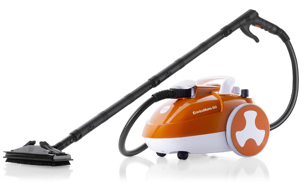 ENVIROMATE GO E20 STEAM CLEANING SYSTEM SWISS ARMY KNIFE OF STEAM CLEANERS The new EnviroMate GO (E20) is a powerful flexible and efficient cleaning device that is the natural alternative for those