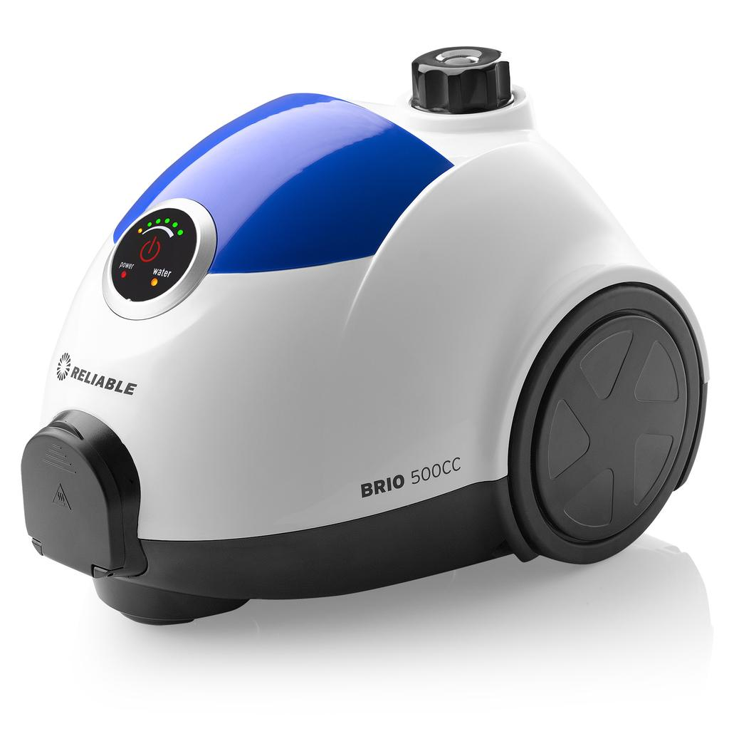 BRIO 500CC STEAM CLEANING SYSTEM WITH CSS AND EMC2 MORE POWER = MORE STEAM The Brio 500CC packs a serious punch. With 5 bar working pressure, the 500CC makes quick work of dirt, grime and germs.