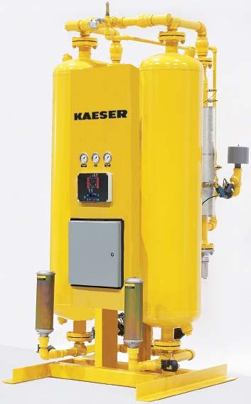 Heated Desiccant Dryers (KED & KBD) Kaeser Heated Purge Dryers (KED) are heated regenerative dryers that use only 7% of compressed air for purging.
