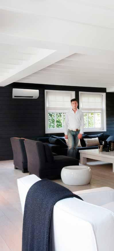 The ideal solution Our wall-mounted units use the latest in heat-pump technology combined with advanced engineering and design to make them ideal for all rooms in the house.