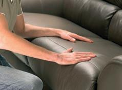 Avoid using the feet as a lever as doing this may lead to damage. Dispose of all packaging carefully and responsibly. Assemble on a soft level surface to avoid damaging the sofa or your floor.