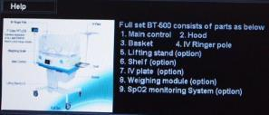 How to use and change mode and parameters External Monitor BT-500 uses external 7 color TFT LCD