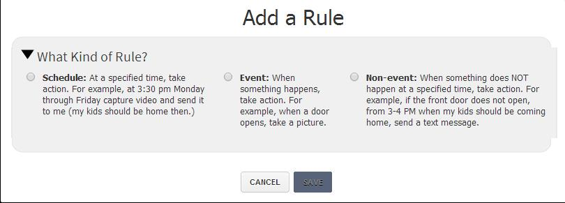 WEB PORTAL Rules Setup To manage rules, select Rules> Rules.