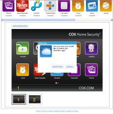 WEB PORTAL MANAGING TOUCHSCREEN APPS You can manage which touchscreen apps are displayed on your touchscreen, configure them, and determine how they are displayed. 1. Click Apps on the toolbar.