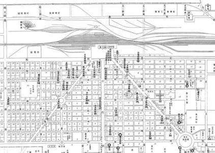 Figure 2. 5 Fengtian (Shenyang) Railway Station and planning of residences.