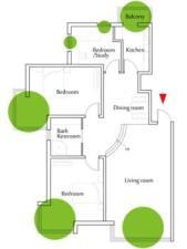 Figure 4. 12 Floor Plan of the chosen family. Child has her own room.