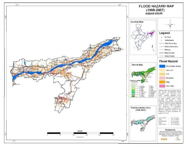 132 DISASTER RESILIENT HOUSING OF ASSAM: A CASE STUDY Figure 6 Flood Hazard Map of Assam (Source: Assam State Disaster Management Authority) 9.