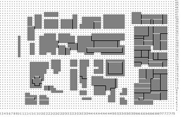 Source: Author Modified Urban Geometries for ENVI-met Simulations Manipulated Geometry_1 (Simulation_2) Heights of the buildings are