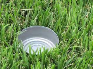 Catch-Can Test Container Run your sprinklers until a depth of 1 is caught and record the time.