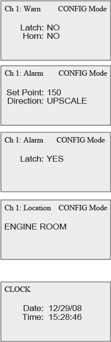 GG-2 Latch for Warn Relay: Allows warning relay of channel being programmed to latch. A latched relay must be cleared by pressing the RESET button, once the gas has cleared.
