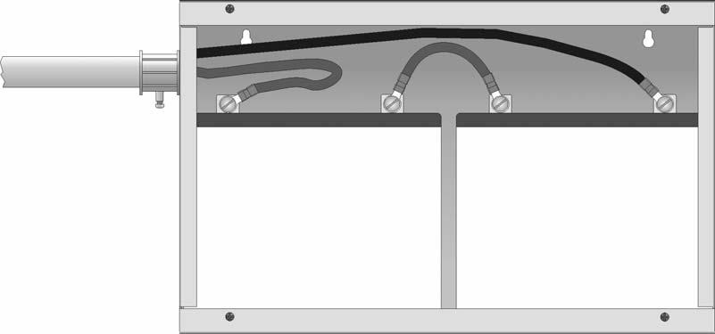Control Panel Installation 151274-L8 3. Run extended battery cable from control panel cabinet through conduit to RBB cabinet. See Figure 4-5.