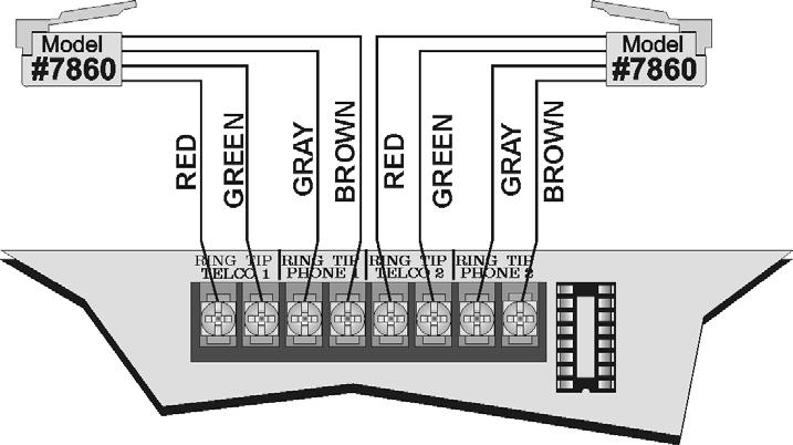 IntelliKnight 5808 Installation Manual 151274-L8 4.10 Telephone Connection Connect the telephone lines as shown in Figure 4-26.