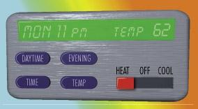 Hot Winter Tip Using a programmable thermostat, you can automatically turn down your heat at night or when you are not at home.
