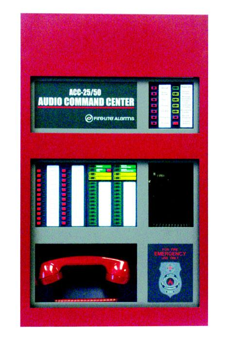 The ACC-25/50ZST includes an ACC- FFT Fire Fighter Telephone Module with keypad which provides indications of phone activation, remote page activation, remote microphone activation and corresponding