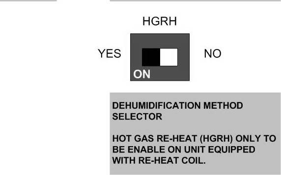 Revised 08-13 Unit Controls - UPM 13 NOTE: Do not set the ADJ DIP switch to the (-) setting when electric heaters are installed.