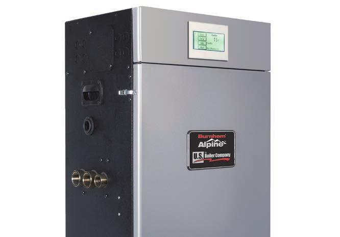 For high temperature systems, such as fin-tube style baseboard systems, or in homes where it may be impractical to vent a boiler directly to outside air without using a chimney, the Burnham ES2,