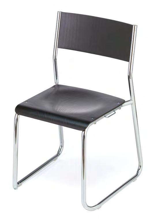 mensa The predecessor of this stackable skid-base chair