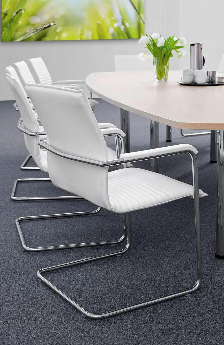 office The office swivel chair and cantilever chair are