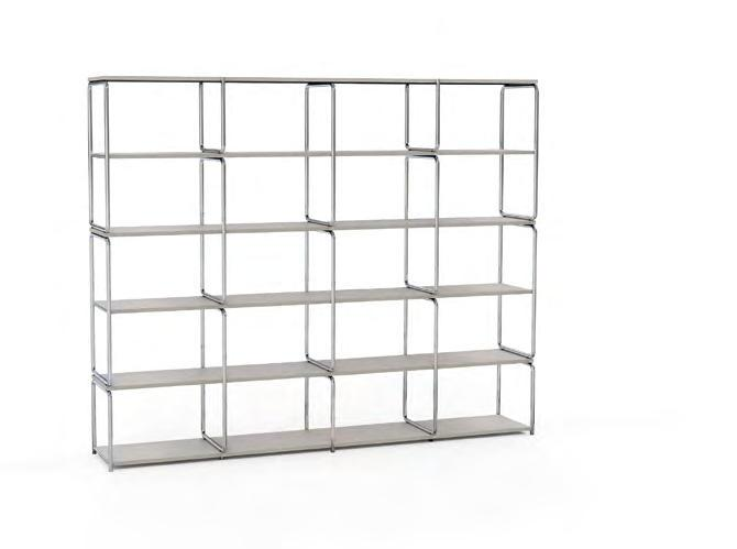 The classic shelving system can be used to achieve any height or