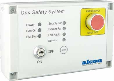 Ventilation & Interlock Systems Gas Ventilation The Alcon GSS1 ventilation interlock system is designed specifically for use in commercial kitchens to meet BS6173: 2001, which is now a much
