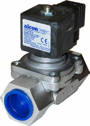 Gas Solenoid Valves Gas Valves - GB Series The Alcon GB series 1 /4-2 solenoid valves are designed as EN161 approved safety shut-off valves for domestic appliances, commercial uses such as catering