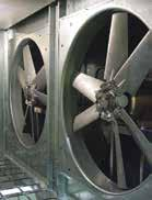 CUSTOM & CATALOGED AIR HANDLING UNITS Optional Exhaust and Return Fans The axial flow and plenum power exhaust and return fans are directly driven by the motor.